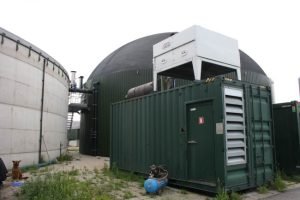 Image shows an example of an anaerobic digestion plant in the Netherlands.