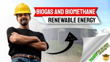 "Image text says: ""Biogas and biomethane renewable energy""."